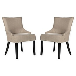 Safavieh Lotus Side Chairs in Antique Gold (Set of 2)
