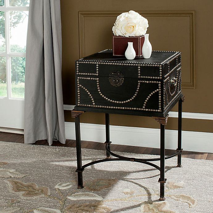 Alternate image 1 for Safavieh Anthony Storage End Table in Dark Brown