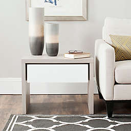 Safavieh Jonco Side Table in Grey/White
