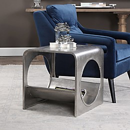 Uttermost Yeager Iron End Table in Silver