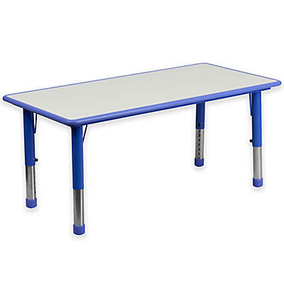 Flash Furniture Rectangular Activity Table in Blue/Grey