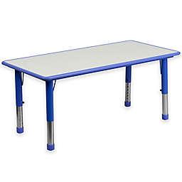 Flash Furniture Rectangular Activity Table in Blue/Grey