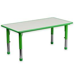 Flash Furniture Rectangular Activity Table in Green/Grey