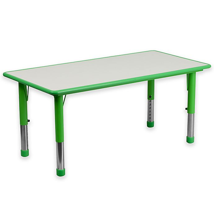 Alternate image 1 for Flash Furniture Rectangular Activity Table in Green/Grey