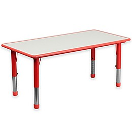 Flash Furniture Rectangular Activity Table in Red/Grey