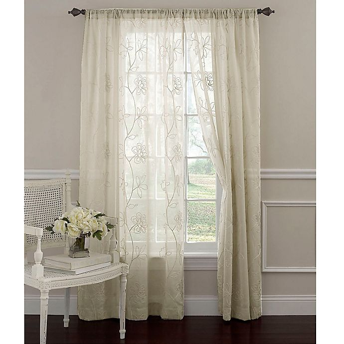 Buy Laura Ashley® Frosting 63-Inch Window Curtain Panel In