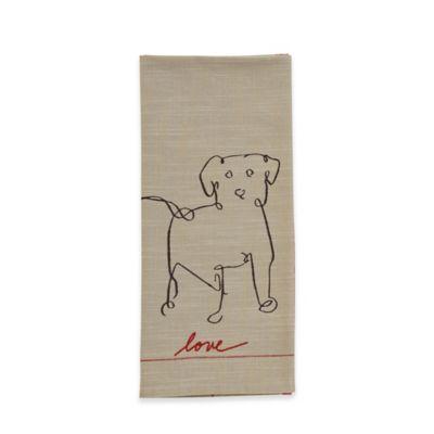 Ed Ellen Degeneres Dog Flat Woven Kitchen Towel In