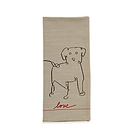 ED Ellen DeGeneres™ Dog Flat Woven Kitchen Towel in Natural