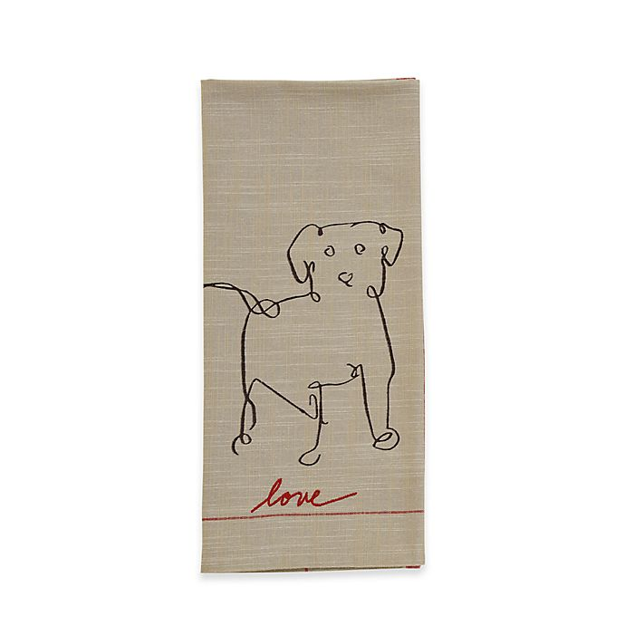 Alternate image 1 for ED Ellen DeGeneres™ Dog Flat Woven Kitchen Towel in Natural