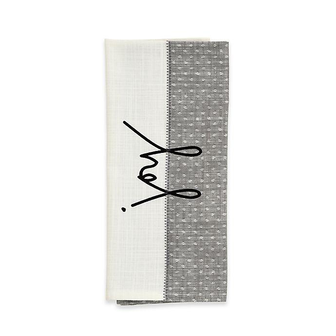 Alternate image 1 for ED Ellen DeGeneres™ Joy Flat Woven Kitchen Towel in Grey