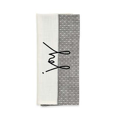 ED Ellen DeGeneres™ Joy Flat Woven Kitchen Towel in Grey