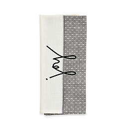 ED Ellen DeGeneres™ Joy Flat Woven Kitchen Towel in Grey