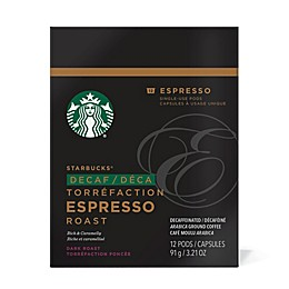 Starbucks® Verismo® 12-Count Decaf Espresso Roast Espresso Pods