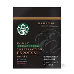 Starbucks® Verismo™ 12-Count Decaf Espresso Roast Espresso Pods