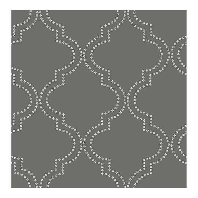Alternate image 1 for Symetrie Tetra Quatrefoil Wallpaper in Charcoal