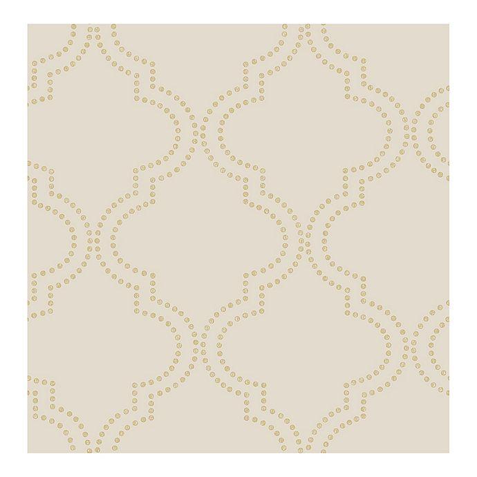 Alternate image 1 for Symetrie Tetra Quatrefoil Wallpaper in Beige