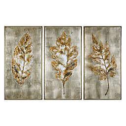 Uttermost Champagne Leaves Framed Wall Art (Set of 3)