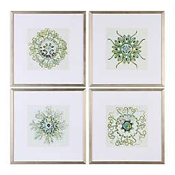 Uttermost Organic Symbols Framed Wall Art (Set of 4)