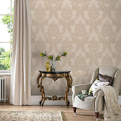 Graham & Brown Regent Neutral Wallpaper in Cream