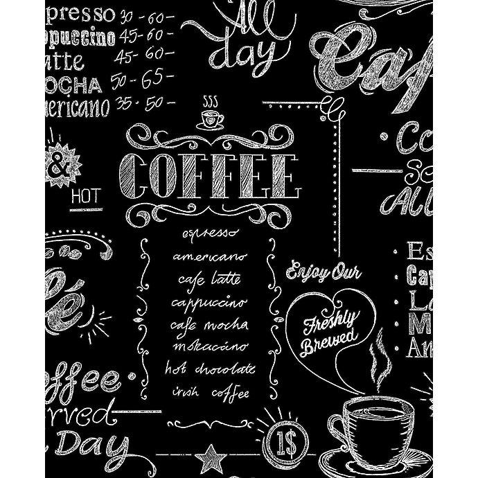 Alternate image 1 for Graham & Brown Coffee Shop Wallpaper in Black/White