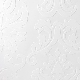 Graham & Brown Large Damask Paintable Wallpaper in White