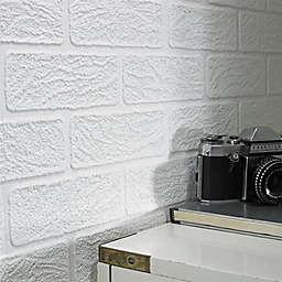 Graham & Brown Brick Paintable Wallpaper in White
