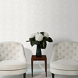 Graham & Brown Cameo Stripe Paintable Wallpaper in White