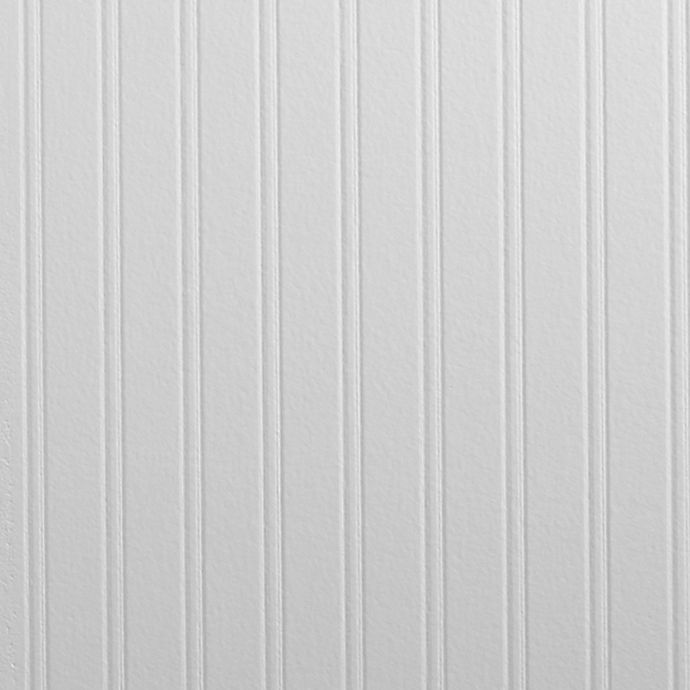 Alternate image 1 for Graham & Brown Beadboard Pre-Pasted Paintable Wallpaper in White