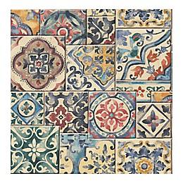 A-Street Prints Reclaimed Marrakesh Tiles Wallpaper in Multi