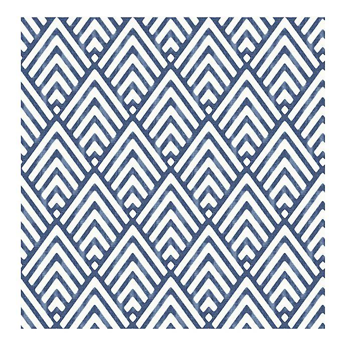 Alternate image 1 for A-Street Prints Symetrie Vertex Diamond Geometric Wallpaper in Indigo