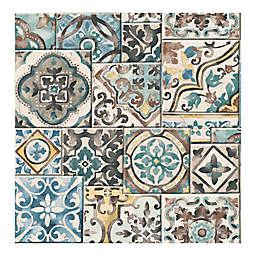 A-Street Prints Reclaimed Marrakesh Tiles Wallpaper in Teal