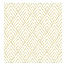 A-Street Prints Vertex Diamond Geometric Wallpaper in Gold