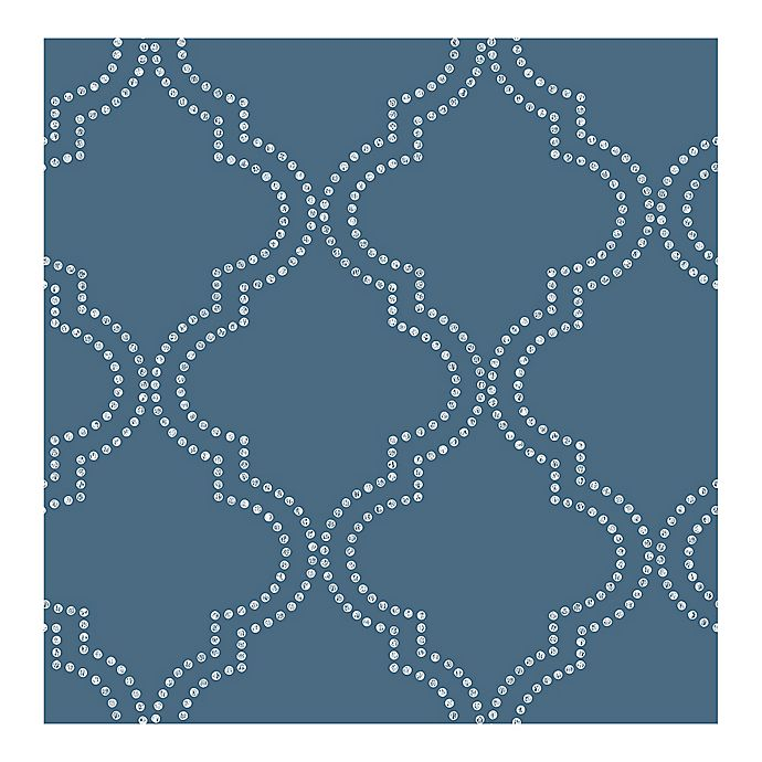 Alternate image 1 for Symetrie Tetra Quatrefoil Wallpaper in Blue