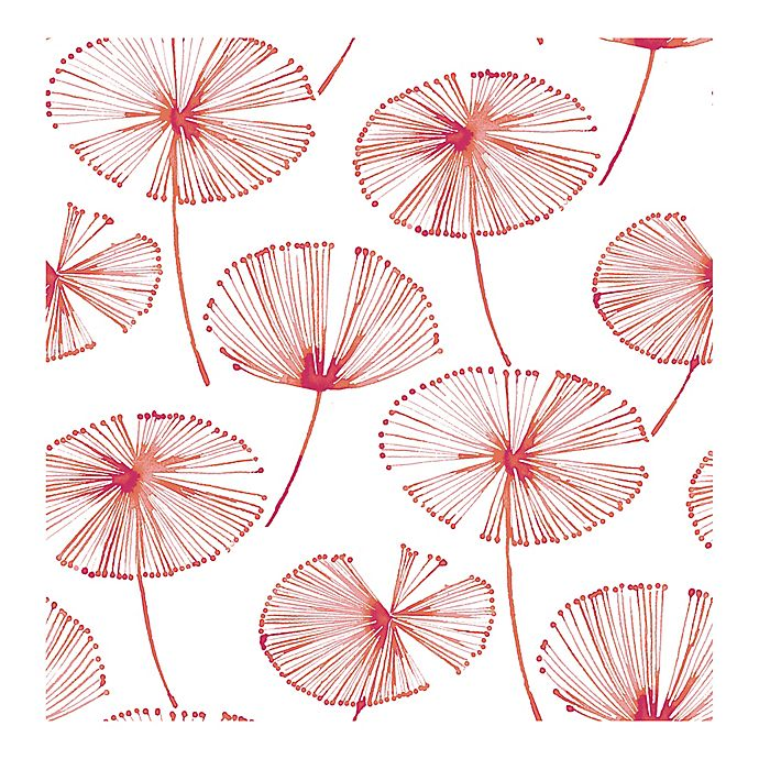 Alternate image 1 for Brewster Home Fashions Catalina Paradise Fronds Wallpaper in Pink