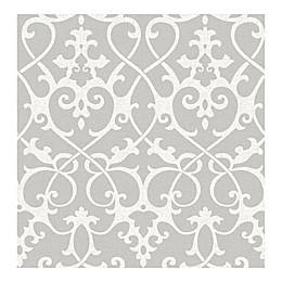 A-Street Prints Symetrie Axiom Ironwork Wallpaper in Grey