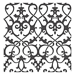 A-Street Prints Symetrie Axiom Ironwork Wallpaper in Black