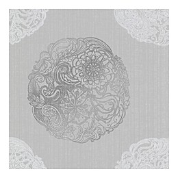 A-Street Prints Cordova Medallion Wallpaper in Pewter