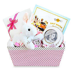 Welcome Baby Girl Bunny & Picture Frame Gift Set