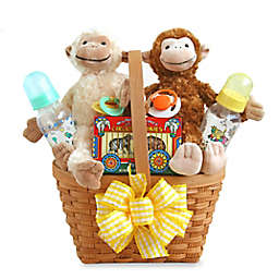 California Delicious Two Little Monkeys Baby Gift Basket