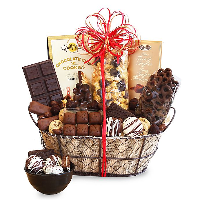 Alternate image 1 for California Delicious Chocolate Delights Gift Basket