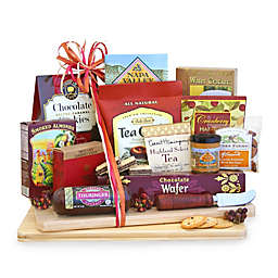 California Delicious Deluxe Cheese And Snack Board Gift Basket