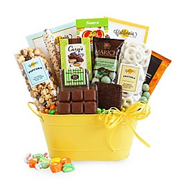 California Delicious Sunburst Celebration Of Sweets Gift Basket