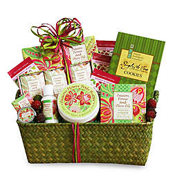 California Delicious Passion Flower And Olive Oil Spa Gift Basket