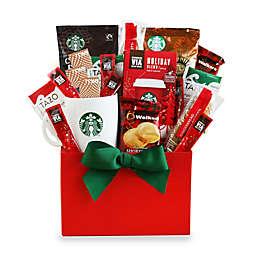 starbucks holiday coffee cheer gift box - Gift Baskets Christmas