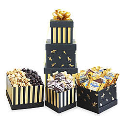 California Delicious Black & Gold Elegance Chocolate Gift Tower