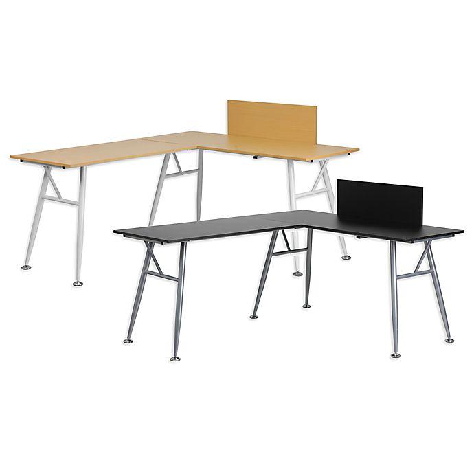 Flash Furniture Laminate L Shape Computer Desk Bed Bath