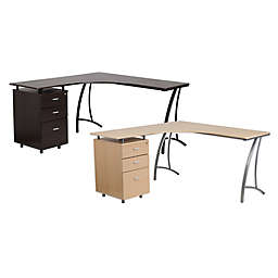 Flash Furniture Laminate L-Shape Desk