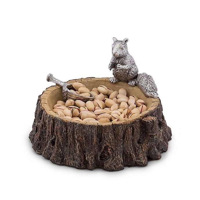 Alternate image 1 for Arthur Court Designs Standing Squirrel Nut Bowl and Scoop