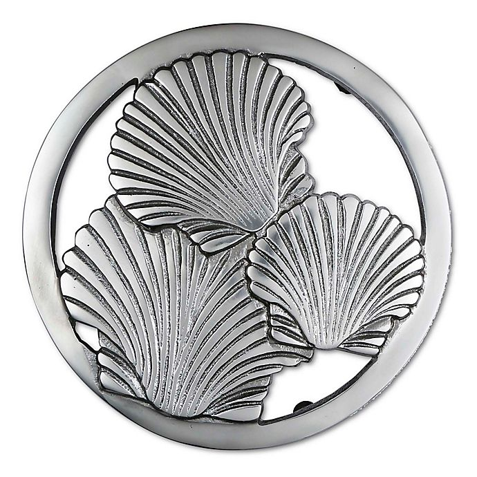 Alternate image 1 for Thristystone® Shell Trivet in Silver