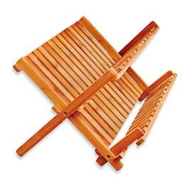 Bamboo Folding Dish Rack